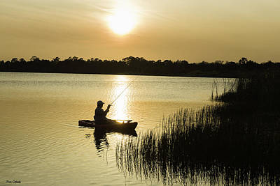 Photograph - Fishing At Sunset by Fran Gallogly