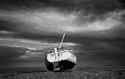 Photograph - Fishing Boat On Aldeburgh Beach #1 by David Calvert