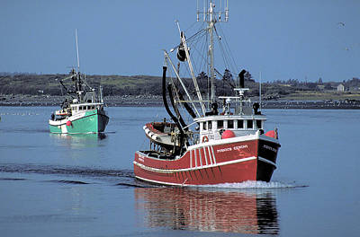 Photograph - Fishing Boats In Nova Scotia by Carl Purcell