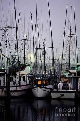Photograph - Fishing Boats Moored At Fisherman's Terminal by Jim Corwin
