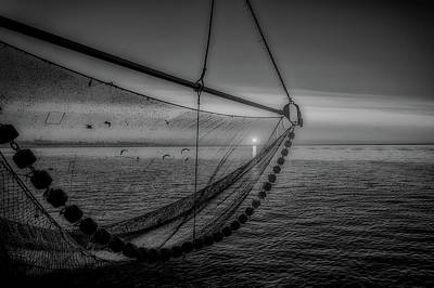 Photograph - Fishing Net At Sunset by Pixabay