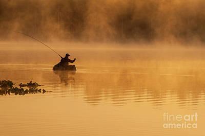 Photograph - Fishing On Lake Cassidy by Jim Corwin
