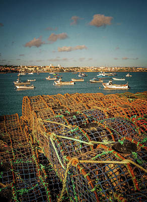 Photograph - Fishing Traps In Cascais by Carlos Caetano