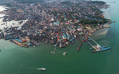 Photograph - Fishing Village And Floating Boats by Pradeep Raja PRINTS