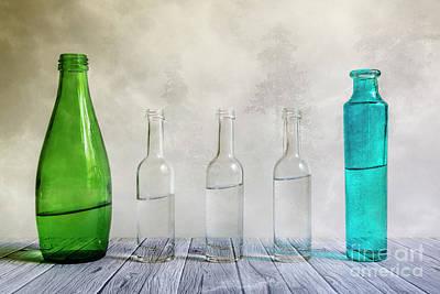Bottle Digital Art - Five Bottles by Veikko Suikkanen