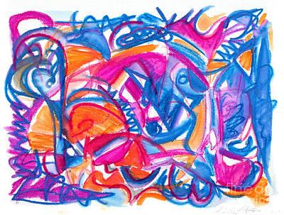Painting - Five by Expressionistart studio Priscilla Batzell