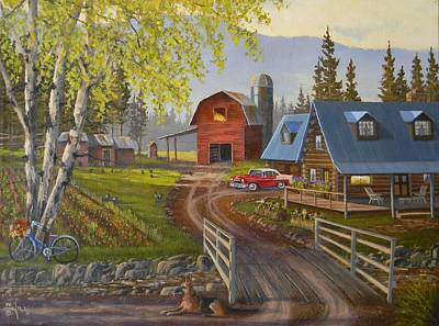 Painting - Five Oclock Coffee by Paul K Hill