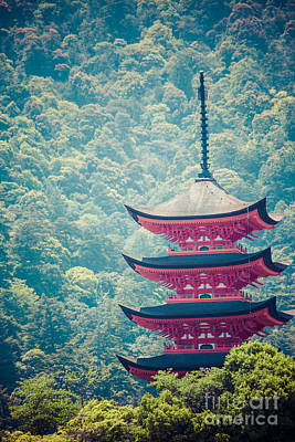 Five-storey Pagoda In Miyajima, Japan Art Print by Mariusz Prusaczyk
