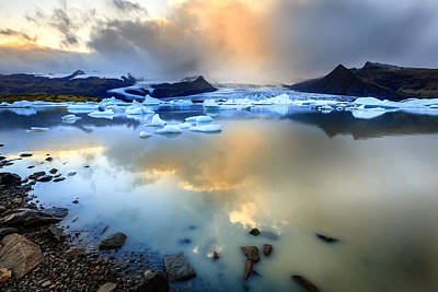 Photograph - Fjallsarlon Glacier Lagoon by Alexey Stiop