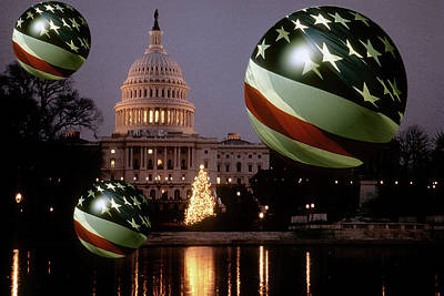 Photograph - Flag Balls In Washington Dc by Carl Purcell