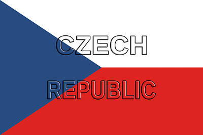 Flag Of The Czech Republic Art Print