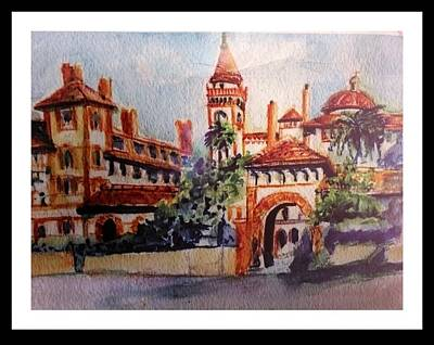 Flaglar College St Augustine Florida Art Print by Patricia Ducher