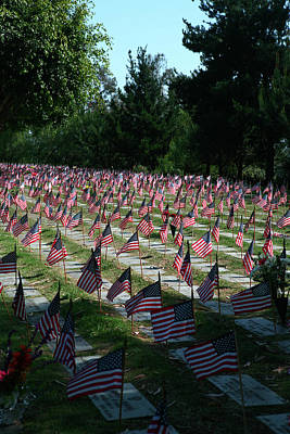 Photograph - Flags Of The Fallen by Lon Casler Bixby