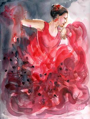 Painting - Flamenco Dancer by Asha Sudhaker Shenoy