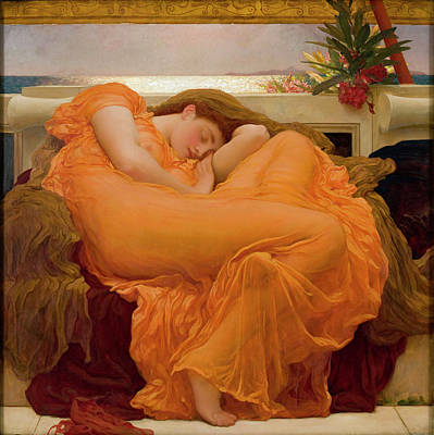 Flaming June Painting - Flaming June by Frederick Leighton