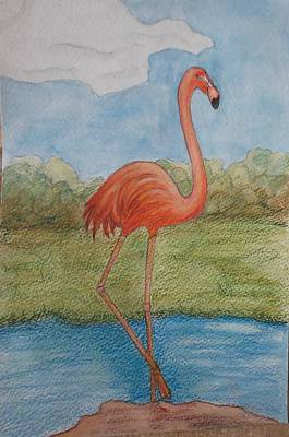 Tapestry - Textile - Flamingo #1 by Patricia Voelz