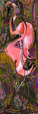 Flamingos Art Print by Anne Weirich