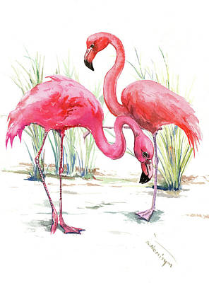 Painting - Flamingos by Suren Nersisyan