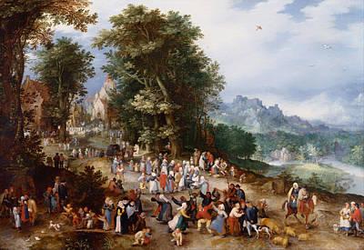 Flemish Painting - Flemish Fair by Jan Brueghel the Elder