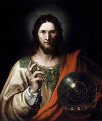 Painting - Flemish Salvator Mundi by Flemish Master