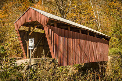 Photograph - Fletcher Covered Bridge by Jack R Perry