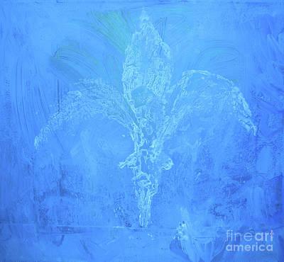 Expresive Painting - Fleur De Lis Saphire by Geoffrey Proud