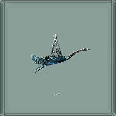 Digital Art - Flight by Asok Mukhopadhyay
