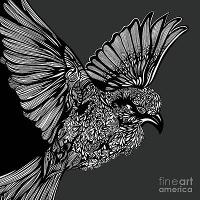Sparrow Digital Art - Flight by HD Connelly