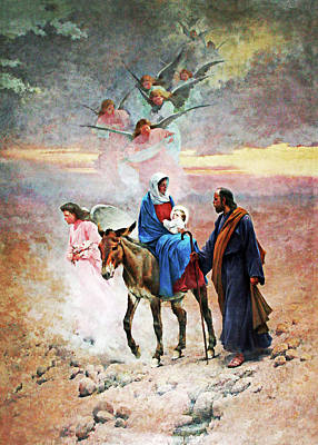 Photograph - Flight Into Egypt by Munir Alawi