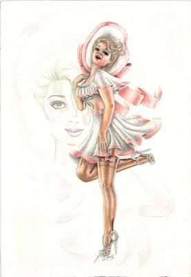 Flirtation In The Breeze Art Print by Scarlett Royal