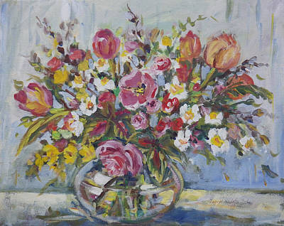 Painting - Floral Arrangement by Ingrid Dohm