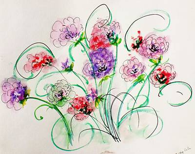 Floral Bunch Art Print by Trilby Cole