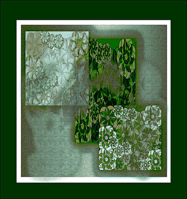 Digital Art - Floral Collage by Iris Gelbart