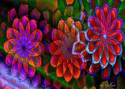 Digital Art - Floral Design by Iris Gelbart