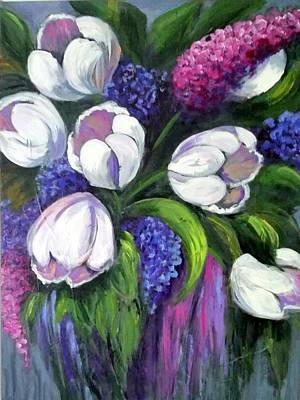 Painting - Floral Elegance by Rosie Sherman