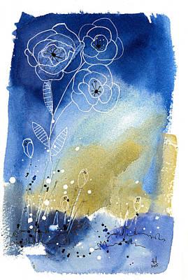 Floral V Art Print