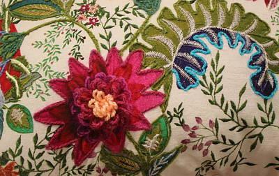 Floral Mandala Tapestry - Detail Art Print by Dora Sofia Caputo Photographic Art and Design