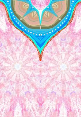 Poncho Digital Art - Floral Poncho by Sandrine Kespi