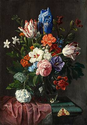 Poster Painting - Floral Still Life With Tulips by MotionAge Designs