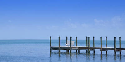 North American Photograph - Florida Keys Quiet Place Panoramic View by Melanie Viola