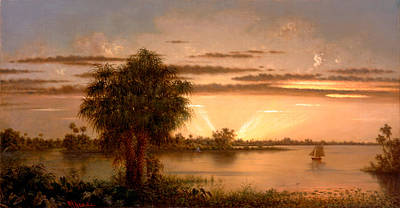 Painting - Florida Sunrise by Martin Johnson Heade
