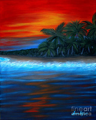 Painting - Florida Sunset. Original For Sale by Oksana Semenchenko