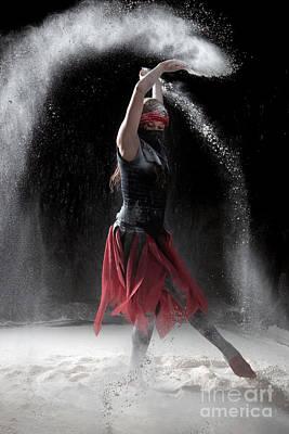 Vertical Photograph - Flour Dancing Series by Cindy Singleton
