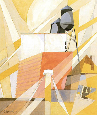 Photograph - Flour Mill Factory by Charles Demuth