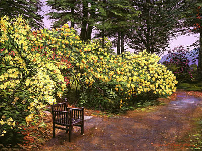 Painting - Flourishing Garden by David Lloyd Glover