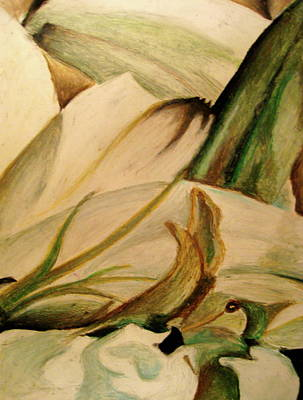 Nature Abstracts Drawing - Flower Detail by Emily Jones