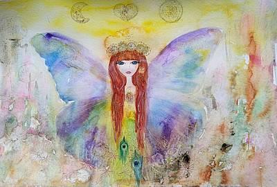Painting - Flower Fairy  by Nino Gabashvili