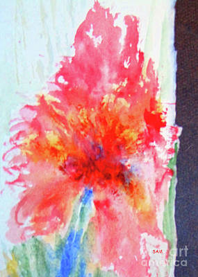 Painting - Flower In Watercolor 1 by Sandy McIntire