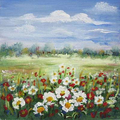 Painting - Flower Meadow by Vesna Martinjak