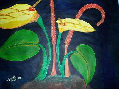 Bringing The Outdoors In - Yellow Flower - Oil Painting by Nisanth Variyath